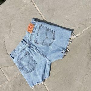 "Vintage Levi's Denim high rise  shorts 32"""